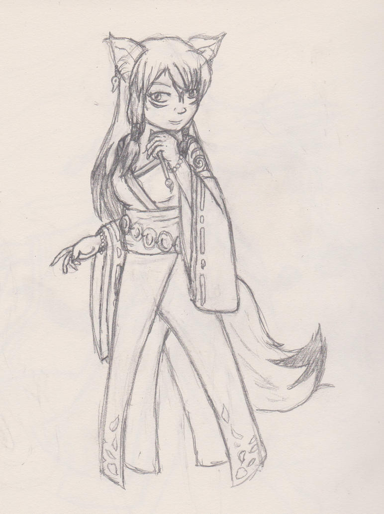 Work sketches- Amaterasu by whiskers