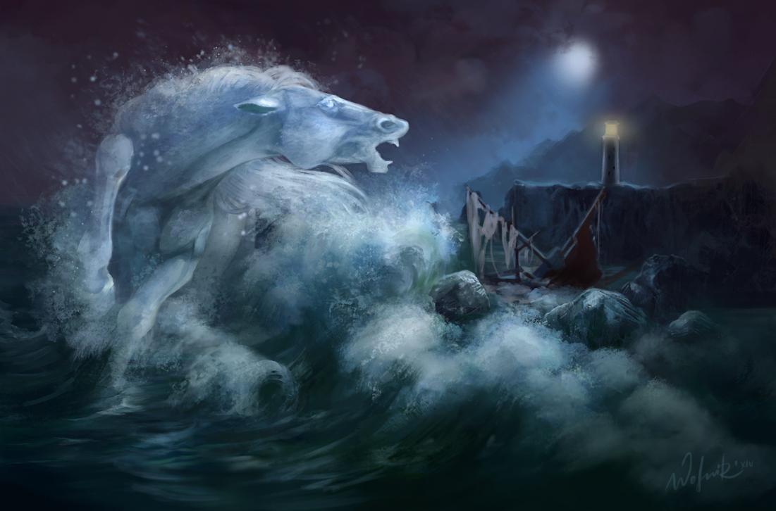 Raging sea by Wolnir