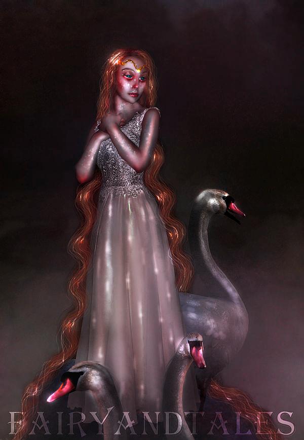 Enchanted swan by FairyAndTales