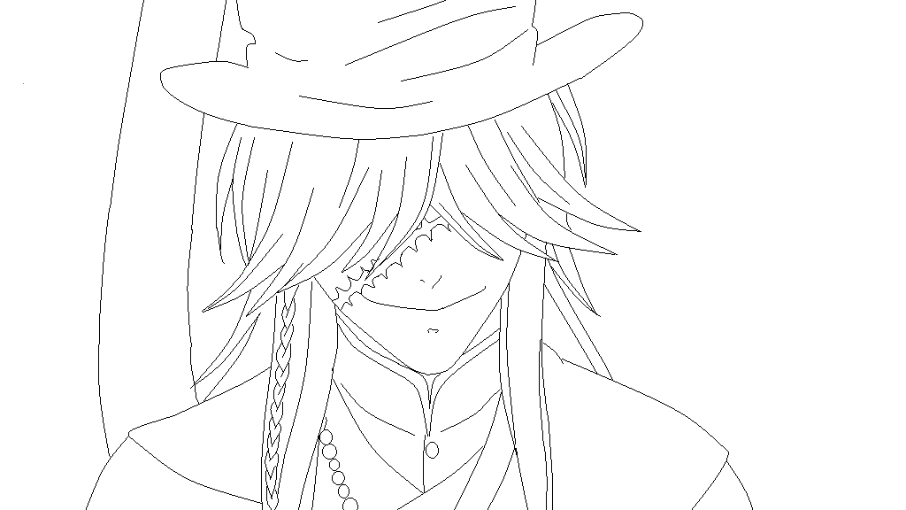 Blackbutler undertaker lineart by mrsnnoitrajiruga on for Coloring pages of the undertaker
