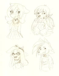 Doobles Sketch Characters Mary by Jnnflores