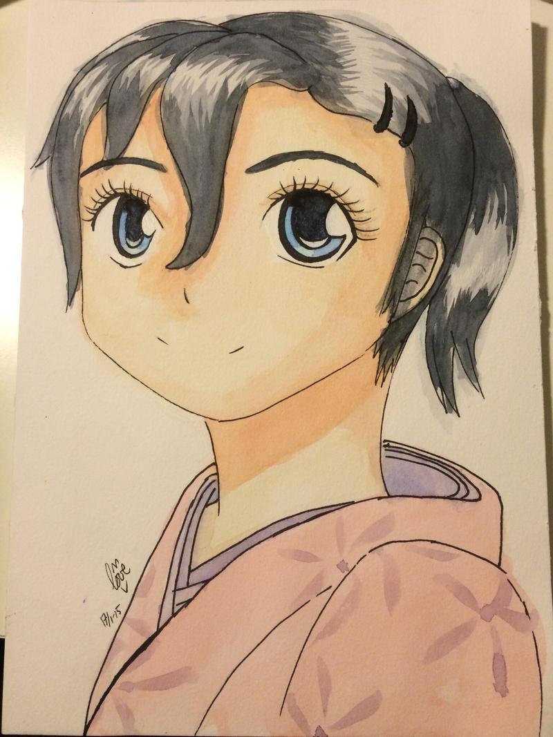 Girl in kimono by Nuummioq on DeviantArt