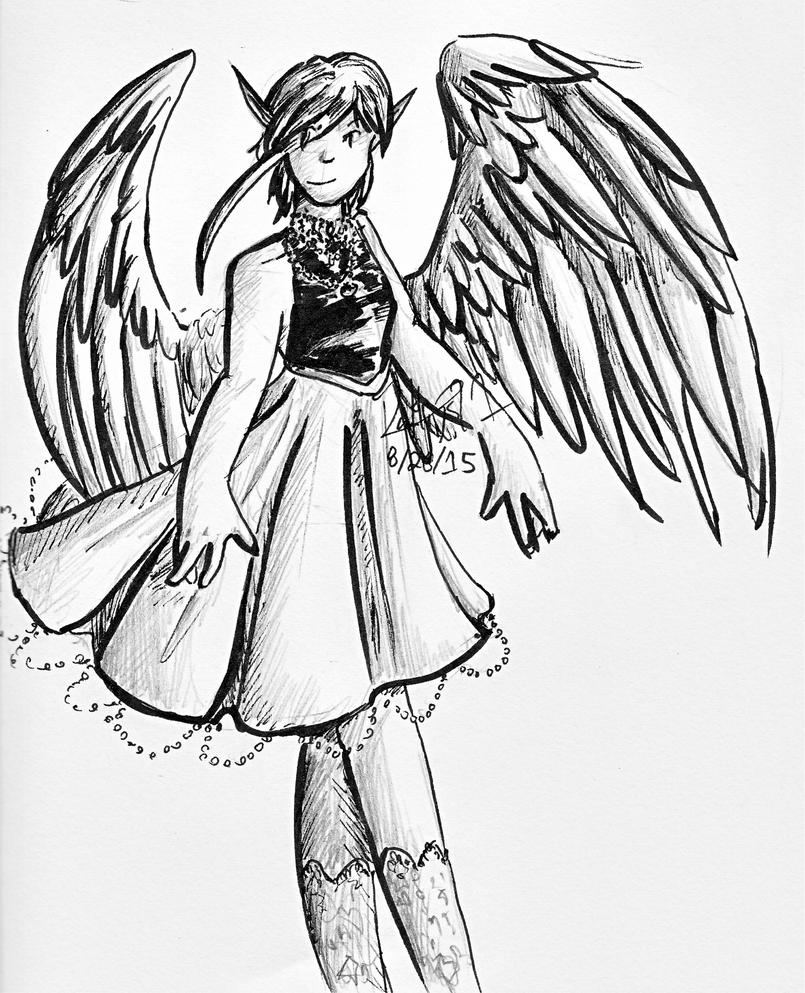 Ink Angel by laurenhiya21