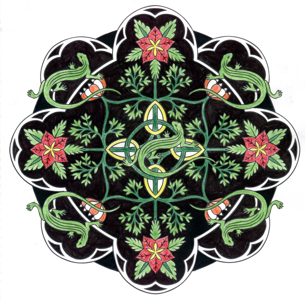 lizard mandala by crescentleaf98 on deviantart. Black Bedroom Furniture Sets. Home Design Ideas