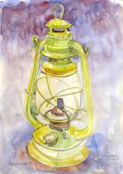 Yellow Paraffin Lamp