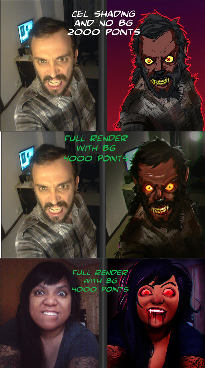 TRICK OR SELFIE- EXAMPLES by LadyMignon
