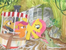 At Disneyland- Jungle Cruise