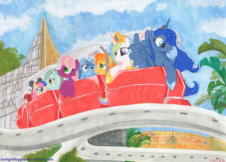 At Disneyland- Peoplemover by TwilightFlopple