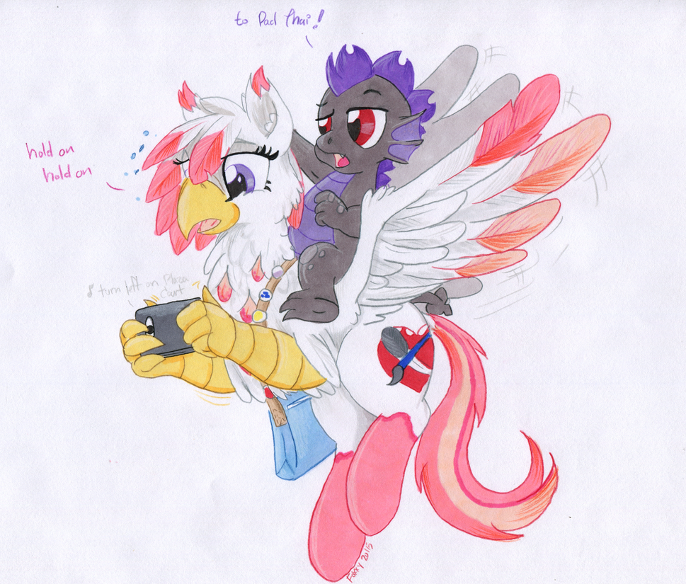 Hippogriff Food Delivery by TwilightFlopple