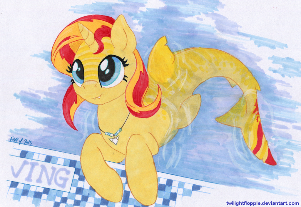 Sunset Sharkle by TwilightFlopple