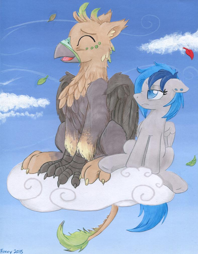 Commission - Ralek Blue Sky by TwilightFlopple