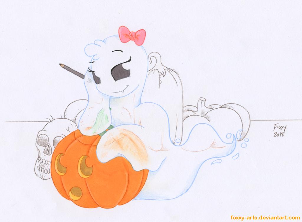 Little Miss Spooky by foxxy-arts