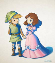 Link and Zelda by doramsc