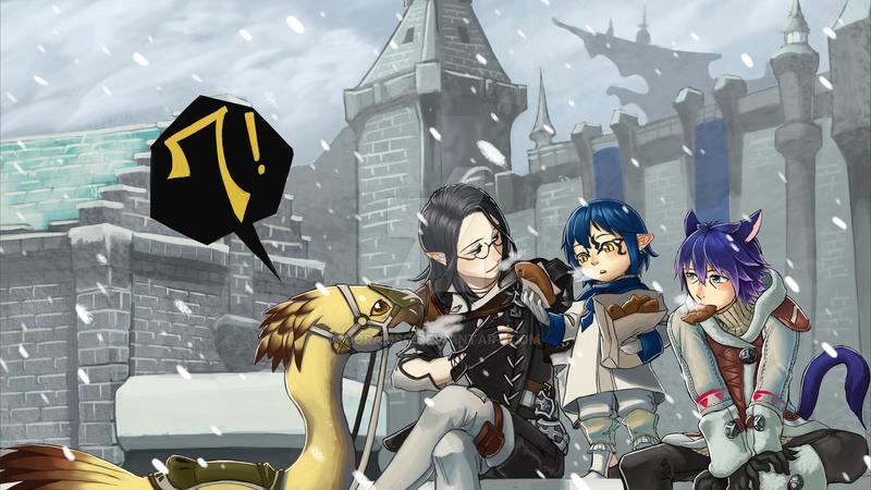 Final Fantasy 14 Countdown Fan art Contest(Korea) by doramsc