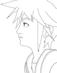 Sora line art by Demyx-will-watch-you