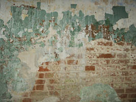 cracked paint and brick by oonerspism