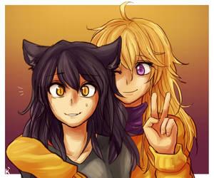 Blake and Yang [RWBY] by Keethy