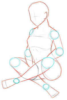 Pose reference: female sitting - crossed legs