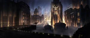 Dieselpunk City by AngHuiQing