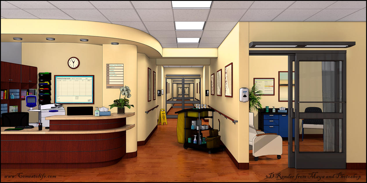 Cell Shaded OfficeMax Office by zoomzoom