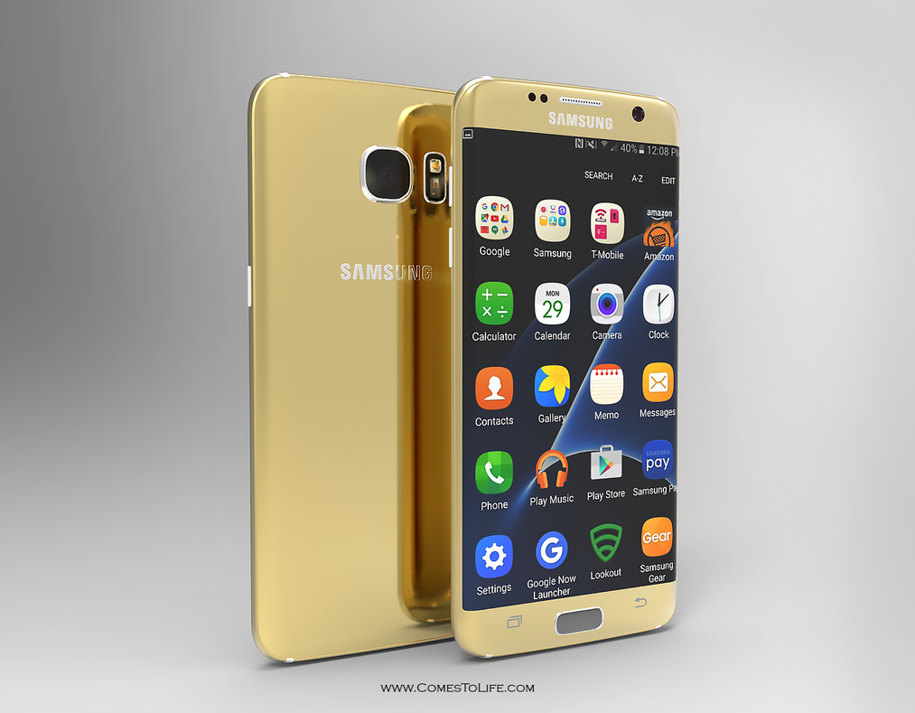 S7Edge Gold by zoomzoom