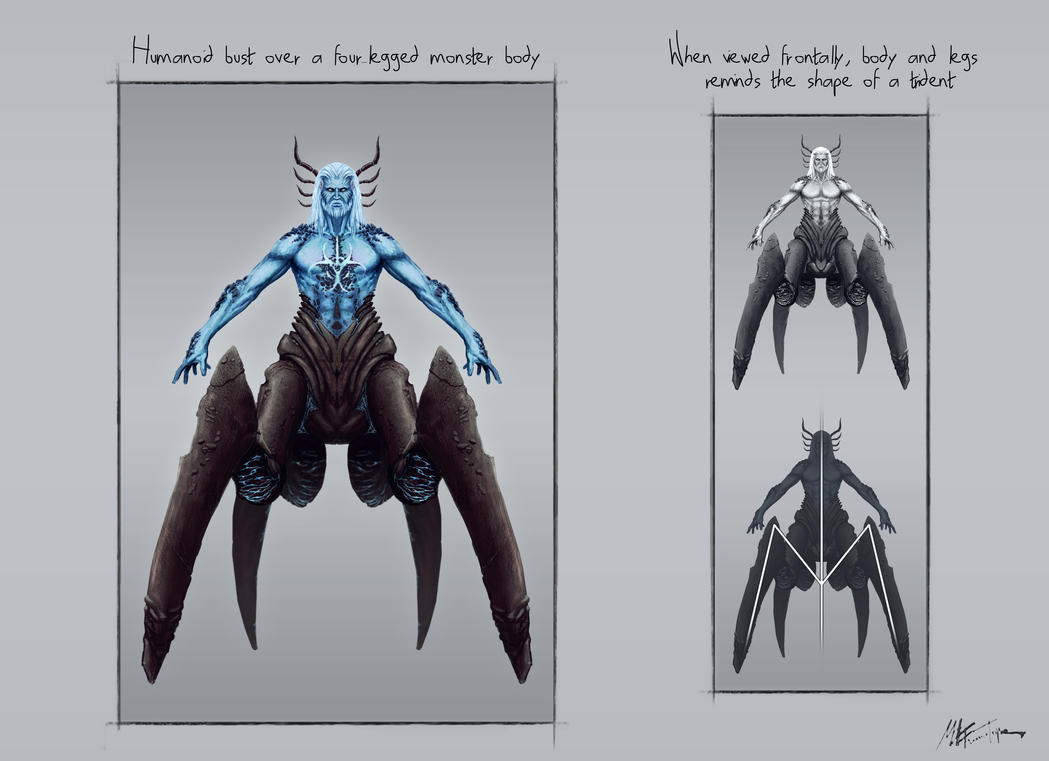 Poseidon sketch 2 by Titanslicer on DeviantArt