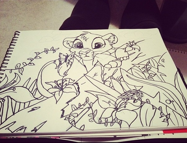 Permanent Sketch Book: Simba 2012 Permanent Marker Sketch By Fioleeforever1 On