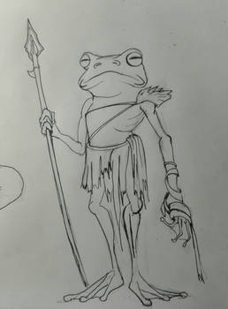 Frog-person sketch