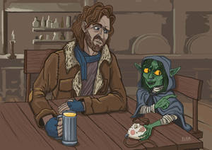 Caleb and Nott in the tavern