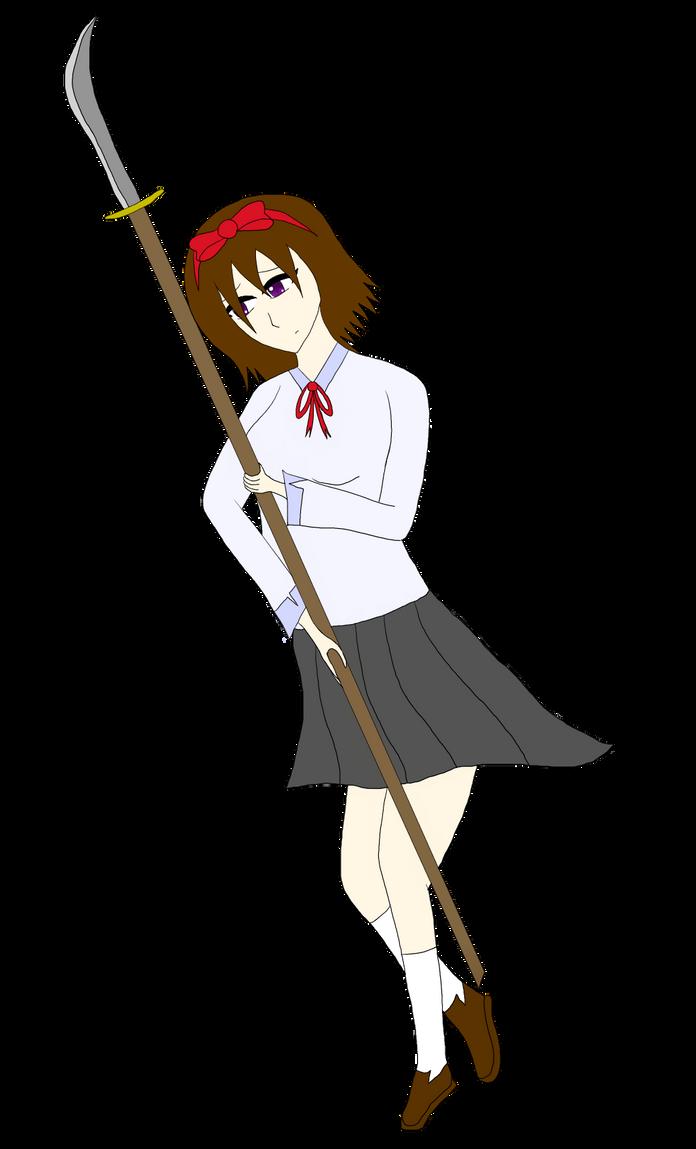 Kokoro and her Weapon by MamaMrL789