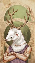 Celtic ferret god by Sylfaenn