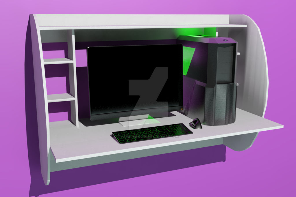floating desk with puter by acwn designs da7dqmb fullview