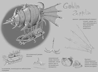 goblin zeppelin by sleer40k