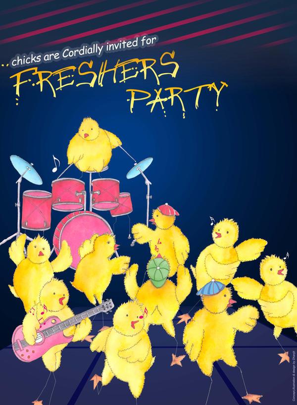 college fresher party poster by dhanjitart on deviantart