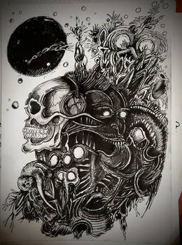 Alien skull compo