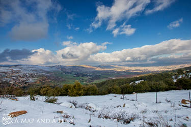 Winter over Baqa'a valley by Mgsblade