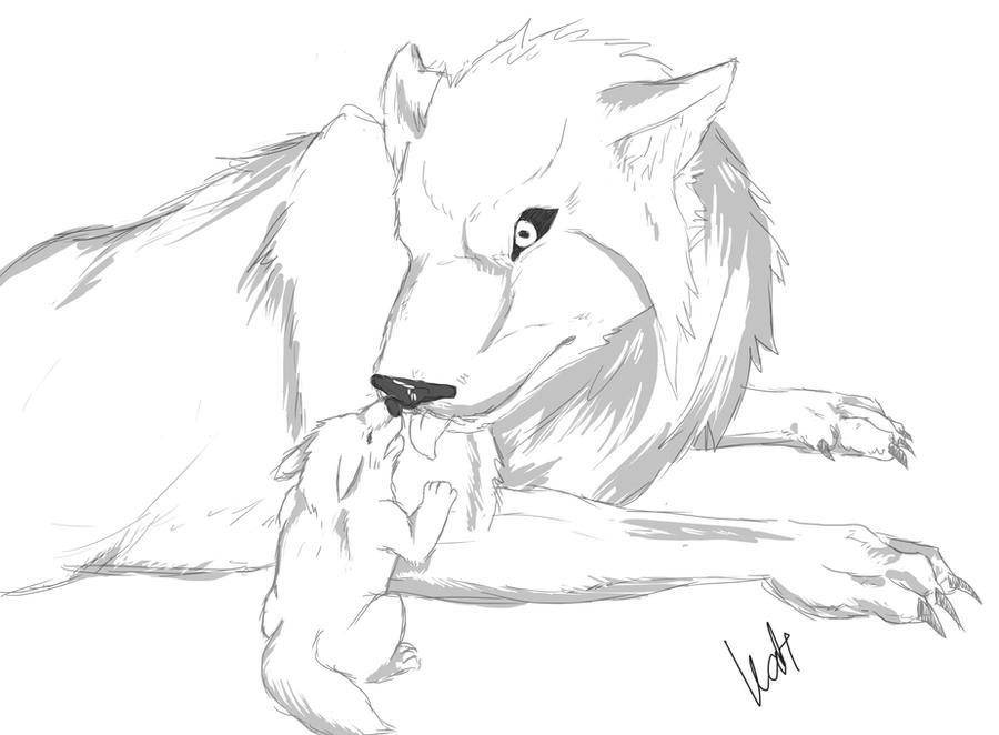 Minato and naruto wolf dad and cub by narutoxsakuralove