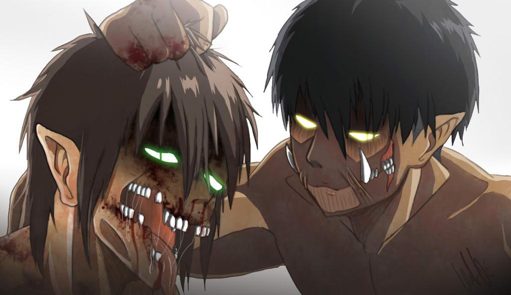 Levi Titan Form beat up Eren Titan Form by NarutoXSakuraLOVE on ...