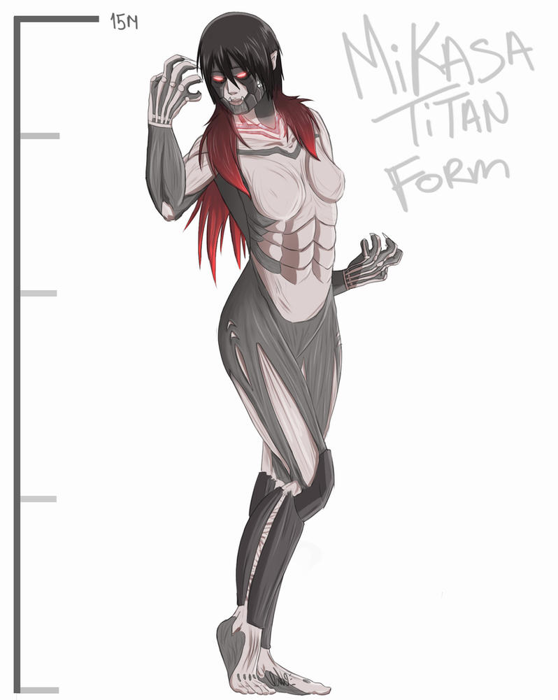 Mikasa ackerman titan form by narutoxsakuralove on deviantart mikasa ackerman titan form by narutoxsakuralove voltagebd Images