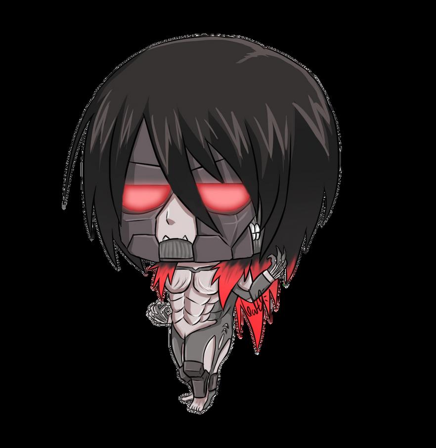 Mikasa Ackerman Titan Form Chibi By NarutoXSakuraLOVE On