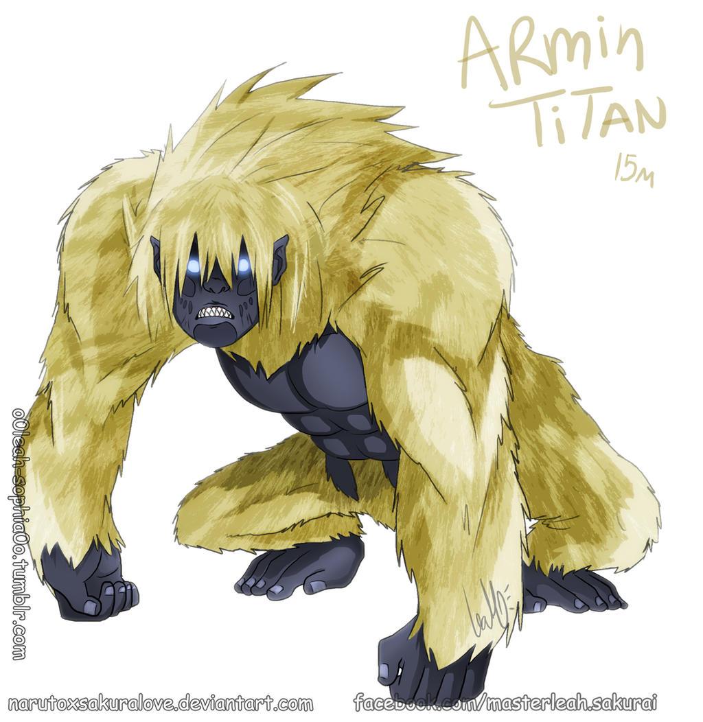 Armin Arlert Titan Form By Narutoxsakuralove On Deviantart