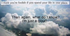 A Little Inspiration, from a Cloud.