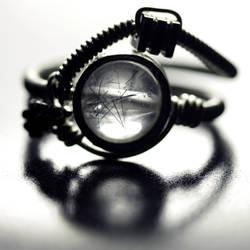 Cyberpunk Ring rutile Quartz by CatherinetteRings