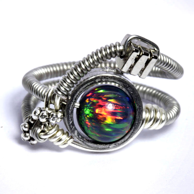 Cyberpunk Lab Opal Ring by CatherinetteRings
