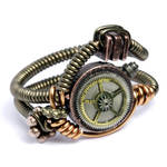 Steampunk Wire Ring Clock Gear