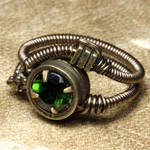 Chrome Diopside Steampunk Ring