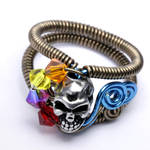 Multicolor Skull ring