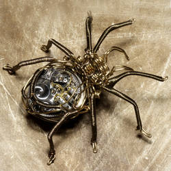 Steampunk Clockwork Spider