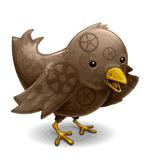 Steampunk Twitter Logo