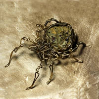 Clockwork Steampunk Spider 2 by CatherinetteRings